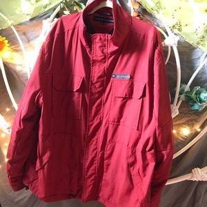 Red Vintage Tommy Hilfiger Windbreaker Men's XL